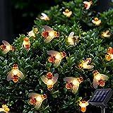 Solar Outdoor Garden String Lights - Suplong 8 Mode 50 LED Waterproof Honey Bees Fairy String Lights for Garden, Patio, Yard,