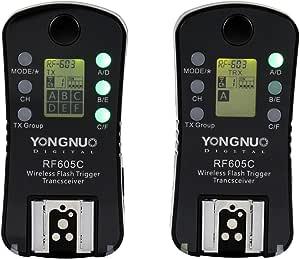 Yongnuo Rf605 C Kit 2 Kabellose Fernauslöser Für Kamera