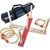 Big Game Hunters 503 Quality Rope Quoits Garden Game Wooden Ring Toss, Hoopla Outdoor Toy in Carry Bag