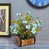 FancyMart Artificial Mixed Floral Arrangements Daisy Flower in Buckle Pot (Height 30 cm)