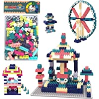 Tinny Time DIY Interlocking140 Pcs Building Blocks with Plastic Plate Board Puzzle Construction Creative Educational Toy…