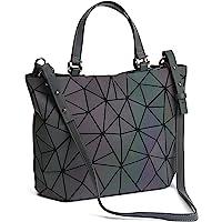 FZChenrry Geometrische Tasche Reflektierende Handtasche Damen Holographic Schultertasche Reflektierende Geometrischer…