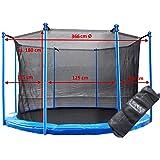 Binnenliggend veiligheidsnet voor trampoline, 366 cm, Ø 8 stangen, vangnet