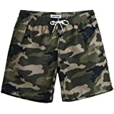MaaMgic Men's Swimming Shorts Quick Dry Trunks Bathing Short Casual Lounge Shorts with Mesh Lining