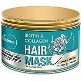 StBotanica Biotin & Collagen Strengthening Hair Mask, 300ml - Revives Dull, Dry, Damaged Hair into Stronger, Fuller and…