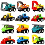 FunBlast Set of 12 Toy Vehicles - Push and Go Crawling Toy, Mini Truck Toy Kit Set, Toy Car for Kids