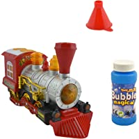 Gooyo Battery Operated Electronic Happy Motion Dream Bubble Machine Toy Train Engine with Musical Sound and Flashing…