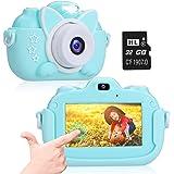 "A-TION Cámara para Niños, Pantalla Táctil IPS de 3.0"" Cámara de Fotos Digital para Niños 24MP 1080p HD Video Cámara Infantil"