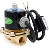 Heschen Brass Electric Solenoid Valve 3//8 Inch AC 220V Direct action Water Air Gas Normally Closed Replacement Valve