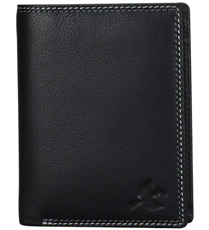 HORNBULL Black Leather Men's Wallet