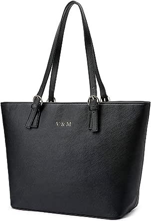 Vanessa & Melissa® Damen Shopper klassisch elegante Handtasche Henkeltasche Schwarz
