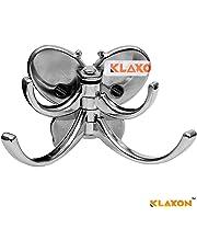 Klaxon Robe Hook - Stainless Steel Bath Butterfly 2 Tone Robe Hook-Bathroom Towel Holder, Coat Hook - -Pack of 1-(Chrome Finish)