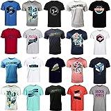 JACK & JONES Lot de 3, 6 ou 9 t-shirts à col rond en coton mélangé pour homme