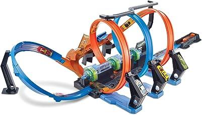 Hot Wheels FTB65 Korkenzieher-Crash Trackset, bunt