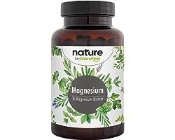 Premium Magnesium Citraat + Vitamine B6 en B12-2580mg zuiver Tri-Magnesium-Di-Citraat - 400mg elementair magnesium per dag -