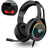 havit RGB Wired Gaming Headset PC USB 3.5mm XBOX / PS4 Headsets with 50MM Driver,…