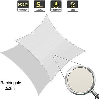 sunlax wasserdicht sonnensegel sonnenschutz garten rechteck 2x3m uv schutz wetterbest ndig. Black Bedroom Furniture Sets. Home Design Ideas