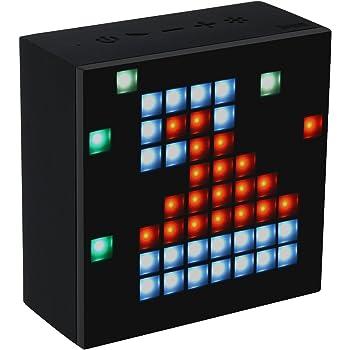 divoom® Aurabox Bluetooth 4.0Smart LED Altoparlante con Controllo App per Pixel Art Creation + Animazione e Social Media notifica. Microfono Integrato per chiamate in Vivavoce