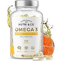Omega 3 Huile de Poissons Sauvages 2000mg   Fish Oil Concentrée Ultra Pure   120 Gélules   EPA DHA et Vitamine E…