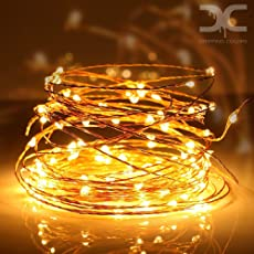 dripping colors Copper Waterproof USB String Lights, (10m, Warm White)- Pack of 100