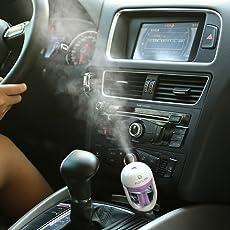 Vmoni Skyfish Air Humidifier/ Purifier Freshener for Car (Purple)