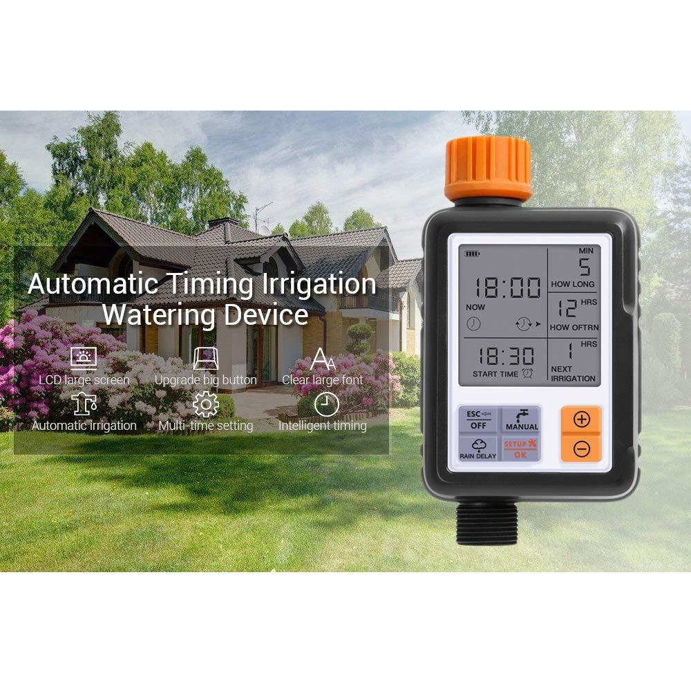 HeartRain Bewässerung Timer Garten intelligente automatische Bewässerungssystem programmierbare LCD-Anzeige…