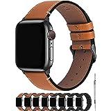 Fullmosa Compatibel Apple Watch armband 44mm/42mm, vintage leren band voor Apple Watch serie 5/4 44mm, Nike+ Series SE 6/5/4/