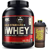 The Scoop ON Gold Standard 100% Whey Protein Powder - 5 lbs, 2.27 kg (Rocky Road) with Free!!! Nutradict Shaker