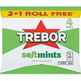 Trebor Softmint Pepermint 4 Roll Multipack, 179 g