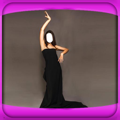 Frauen langes Kleid-Foto-Montage (Die Zoom-katalog)