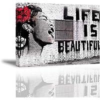 PIY Banksy Graffiti Painting Art Décor Impression sur toile Image Peinture Tableaux de la Mur Imperméable prete à…