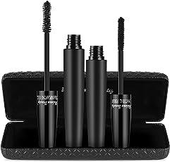 [UPGRADE VERSION] Maybeau 4D Mascara Kit mit Fiber Set Mascara Cream Makeup Wimpern Schwarz Lange Wimperntusche Natürliche Wimpernverlängerung Wasserdicht mit Luxuriös Box