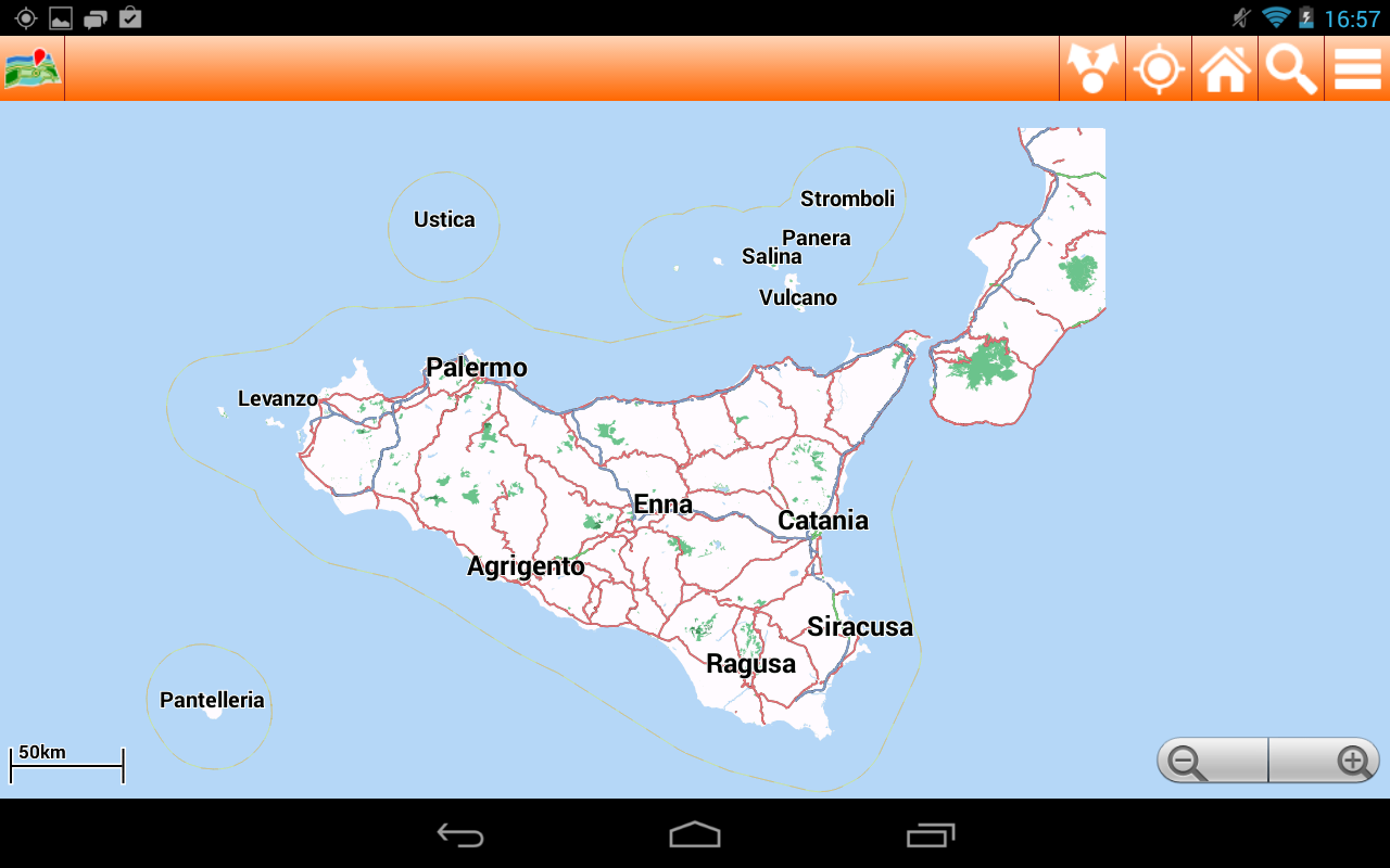 telecharger carte gps sicile