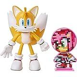 Sonic: Tails, Figura de acción (tamaño 10 cm) con Miembros Flexibles y Accesorio