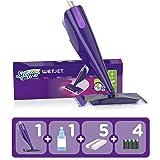 Swiffer WetJet Kit Complet Balai + 5 Lingettes + 1 Nettoyant Liquide + 4 Piles,