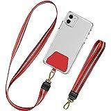 takyu Universale Handykette, Schlüsselband zum Umhängen Kompatibel mit iPhone/Samsung/Huawei/Xiaomi (1 Halsband + 1 Handschla