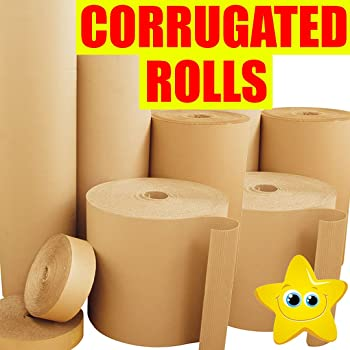Corrugated Cardboard Paper Roll Rolls Wrap Paper Craft 24 600mm X 5m