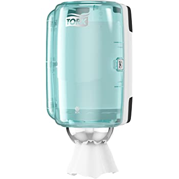 Tork 658000 - Dispensador mini de alimentación centra, color blanco y turquesa