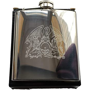 Emblems-Gifts Personalised Liverpool Liver Bird 6oz Stainless Steel Hip Flask