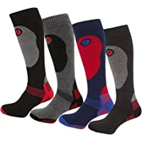 Assorted 4 Pairs of Mens High Performance Ski Socks High grip Snowboarding snow machine Thermal Ski Socks, Special…