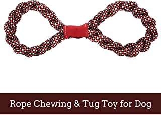 PetSutra Figure 8 Dog Rope Toy, Red (Large)
