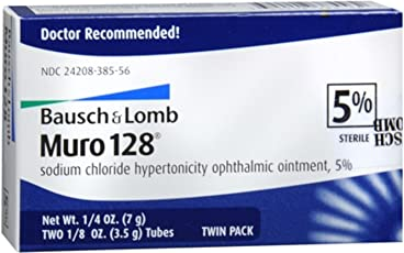 Bausch Lomb Muro 128 Ointment 5% 2-Pack 7 g (Pack of 4)