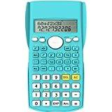 Helect 2-Linea Calcolatrice Scientifica di Ingegneria, Idoneo per la Scuola e Impresa, Blu