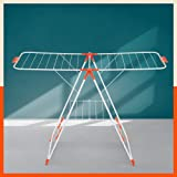 Bathla Mobidry Neo - Foldable Clothes Drying Stand with Weather Resistant Frame (Bright Orange) | Made in India