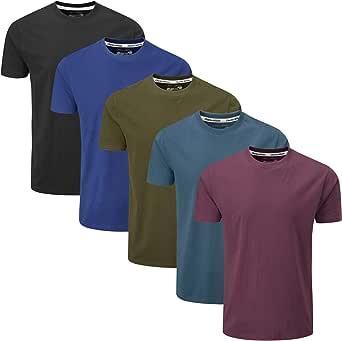 Charles Wilson 5 Pack Plain Crew Neck T-Shirt