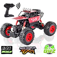 LBLA Off-Road Rock Crawler 1:16 Scale Alloy Body RC Monster Truck with Rechargeable Battery (Red)