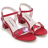 G-collection women and girls casual block heels printed upper and heels printed sandal