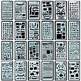 Zeichen Schablonen Grafiken Schablonen, 24 Stückfür Bullet Journal Scrapbooking verzieren/verschönern Eines Fotoalbum