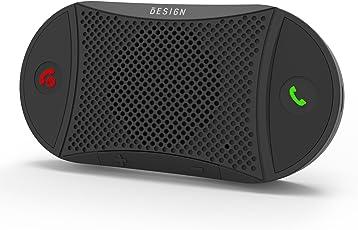 [2 Jahre Garantie] Besign BK02 Kfz Freisprecheinrichtung Bluetooth Freisprechanlage für Freisprech Anrufe, GPS und Musik, Wireless Sonnenblende und Windschutzscheibe Auto Kit, Verbinden Sie zwei Handys