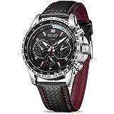 ميجر ساعة رسمية للرجال انالوج بعقارب جلد - ML1010